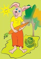 С какво се хранят животните - Заек - пъзел