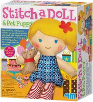 """Уший сама - Кукла с куче - Творчески комплект от серията """"Girl Craft"""" - играчка"""