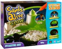 """Магически светещ пясък за моделиране - Стартов комплект - Творчески комплект от серията """"Sands Alive"""" -"""