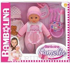 """Говорещо бебе - Камелия - Кукла с аксесоари от серията """"Bambolina"""" - творчески комплект"""
