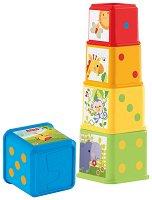 Кула от формички за подреждане - продукт
