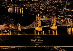 Нощен изглед - Лондон - Скреч картина с размери 41 x 29 cm
