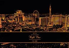 Нощен изглед - Лас Вегас - Скреч картина с размери 41 x 29 cm