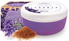 Leganza Anti Stress Lavander Oil & Yoghurt Body Scrub - Ексфолиращ захарен скраб за тяло с масло от лавандула и йогурт - продукт