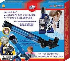 Микроскоп и телескоп - Детски изследователски комплект - играчка