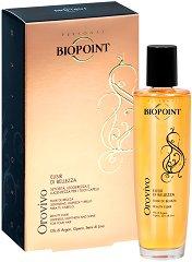 """Biopoint Orovivo Beauty Elixir - Еликсир за всеки тип коса с 3 органични масла без отмиване от серията """"Orovivo"""" - лак"""