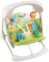 Бебешки люлка 2 в 1 - Rainforest - С вибрация, звуци и мелодии - играчка