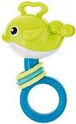 Зелена бебешка дрънкалка - Whale -