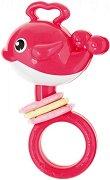 Розова бебешка дрънкалка - Whale -