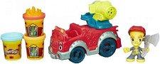 Противопожарен камион - Творчески комплект с моделин -