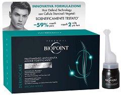 "Biopoint Dermocare Anticaduta Uomo Anti-Hair Loss Lotion - Ампули против косопад за мъже с растителни стволови клетки от серията ""Dermocare Anticaduta"" -"