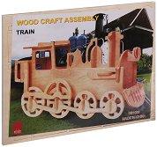 Влак - Дървен 3D пъзел -