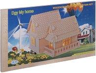 Къща - Дървен 3D пъзел - пъзел