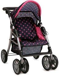 Количка за кукли - Pinky Dots - Детска играчка - количка