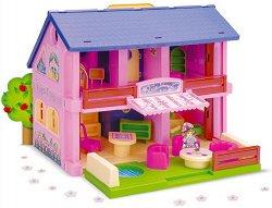 Къща за кукли - Детска играчка с аксесоари - играчка