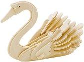 Лебед - Дървен 3D пъзел за оцветяване -
