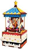 Музикална кутия - Весела въртележка - Дървен 3D пъзел -