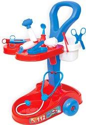 Медицинска количка - Комплект с аксесоари - играчка