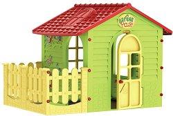 Детска сглобяема къща за игра с ограда - басейн