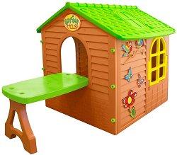 Детска сглобяема къща за игра с маса - играчка