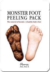 """Chamos Acaci Monster Foot Peeling Pack - Пилинг маска за крака от серията """"Acaci"""" - крем"""