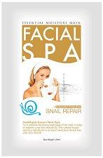 """Chamos Facial SPA Snail Repair Essence Mask - Хидратираща маска за лице с екстракт от охлюви от серията """"Facial SPA"""" - очна линия"""