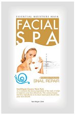 "Chamos Facial SPA Snail Repair Essence Mask - Хидратираща маска за лице с екстракт от охлюви от серията ""Facial SPA"" - сенки"