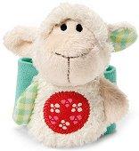 """Бебешка дрънкалка-гривна - Агънце - От серията """"My First NICI"""" - играчка"""