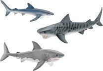 """Акули - Комплект 3 фигури от серията """"Животни от дивия свят"""" -"""