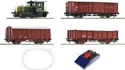 Товарен влак с дизелов локомотив D214 - FS - Дигитален стартов комплект с релси -