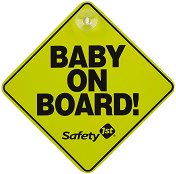 Табела с надпис - Baby on board - Аксесоар за автомобил -