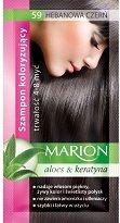 Marion Hair Color Shampoo - Шампоан оцветител в сашета с алое вера и кератин - гъба за баня
