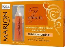 Marion 7 Effects Ampoules For Hair with Argan Oil - Възстановяващи и подсилващи ампули за коса с арганово масло -
