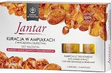 """Farmona Essence of Tradition Jantar Ampoule Treatment - Подхранващи ампули за увредена и слаба коса с кехлибар от серията """"Essence of Tradition Jantar"""" - фон дьо тен"""