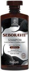 """Farmona Essence of Tradition Seboravit Shampoo - Шампоан за мазна коса с черна ряпа от серията """"Essence of Tradition Seboravit"""" - продукт"""