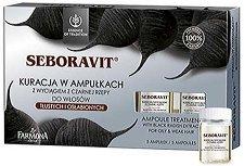 """Farmona Essence of Tradition Seboravit Ampoule Treatment - Ампули за мазна и изтъняла коса с черна ряпа от серията """"Essence of Tradition Seboravit"""" - пяна"""