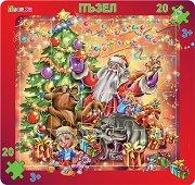 Весела Коледа - Пъзел в картонена подложка - пъзел