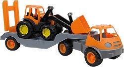 Камион с ремарке и трактор -
