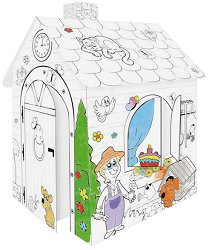 Картонена къща за оцветяване -