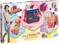 """Създай сама - Декорация за нокти, чанта и гривни в стила на Луна - Творчески комплект 3 в 1 от серията """"Soy Luna"""" - творчески комплект"""