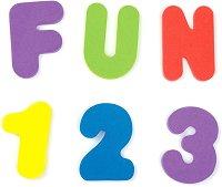 Букви и цифри - Детска играчка за баня -