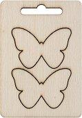 Фигурки от шперплат - Пеперуди - Комплект от 2 броя с размери 5 x 3.5 cm