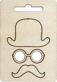 Фигурки от шперплат - Джентълмен - Комплект от 3 броя