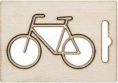 Фигурка от шперплат - Велосипед - Предмет за декориране с размери 7.5 x 4.8 cm