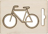 Фигурка от шперплат - Велосипед