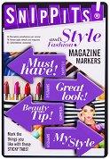 Самозалепващи отметки - Style and Fashion - Комплект от 100 броя с размери 4.7 x 3 cm