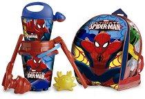 """Комплект за игра в пясък с раница - Детски играчки от серията """"Спайдърмен"""" - играчка"""