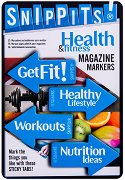 Самозалепващи отметки - Health and Fitness - Комплект от 100 броя с размери 4.7 x 3 cm