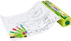 Оцвети сам - Плакати с животни - творчески комплект
