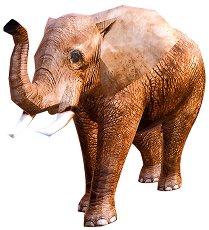 Хартиен свят: Слон - 3D модел за сглобяване - играчка